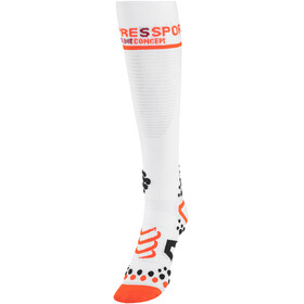 Compressport V2 Full Socks White